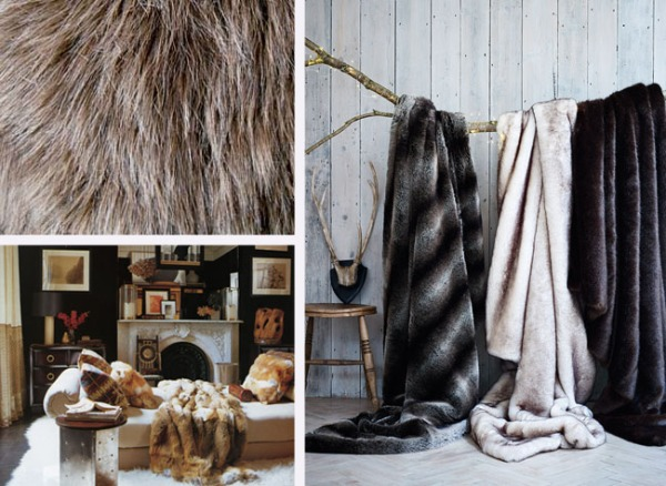 Perfect for fall and winter, faux fur is animal-friendly and adds a dose of warmth to your décor.